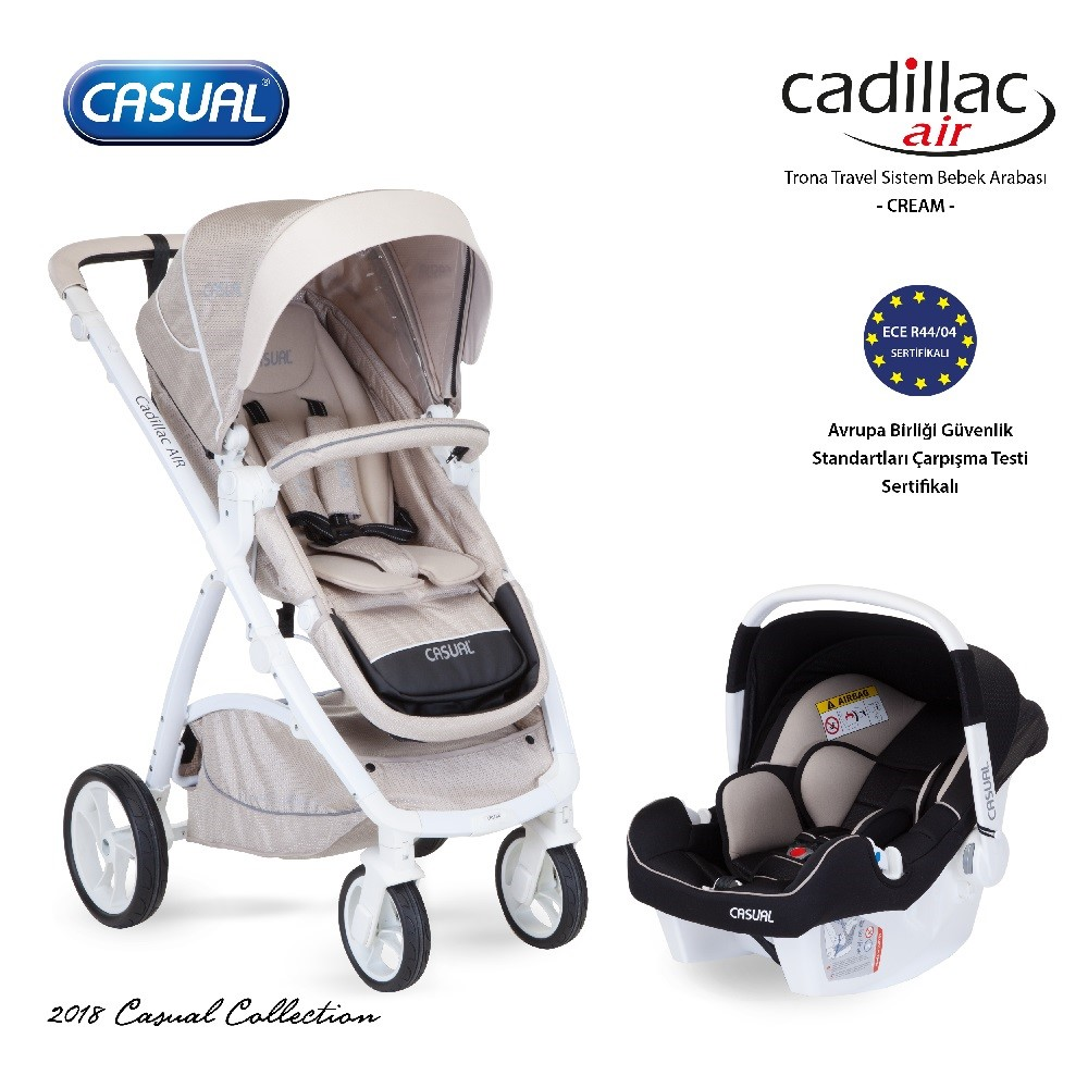 Cadillac Air  T/S Bebek Arabası Cream-17