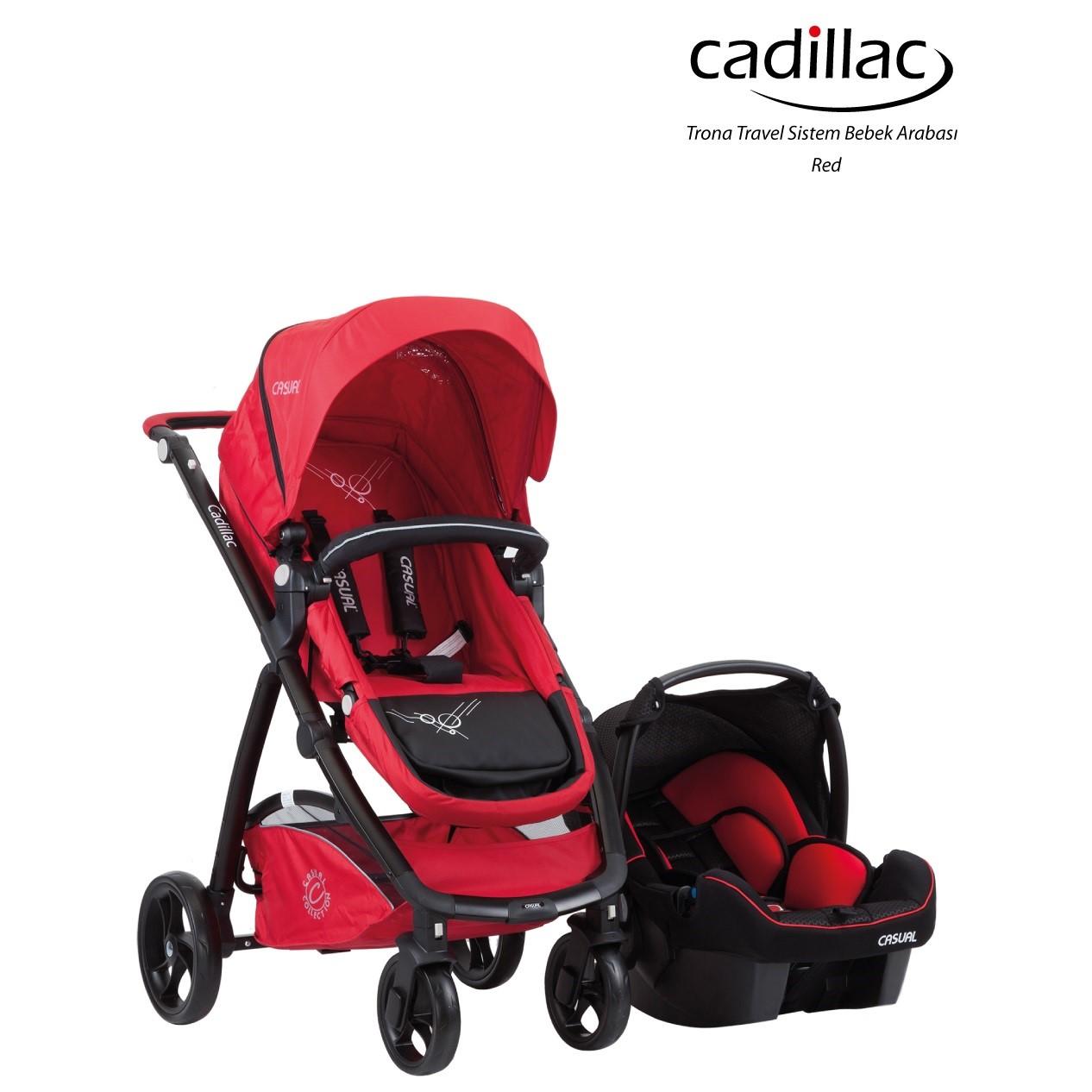 Cadillac Trona  T/S Bebek Arabası  Red-17
